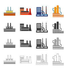 Processing plant industrial production facilities vector