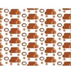 Salami seamless pattern flat style sausage vector