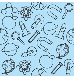 Science set pattern vector image