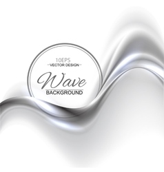 Silver abstract background vector image vector image