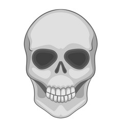 Skull icon cartoon style vector