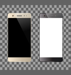 smartphones isolated on white background vector image