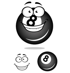 Smiling number 8 billiard ball vector