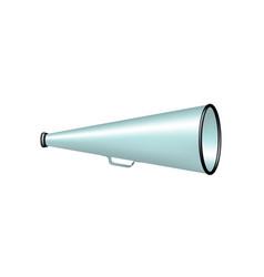 vintage megaphone in lightblue design vector image vector image