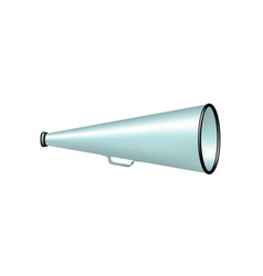 Vintage megaphone in lightblue design vector