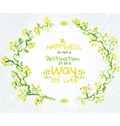 Watercolor flower elements and border vector image