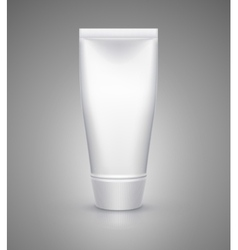 White tube mock-up for cream tooth paste gel vector image