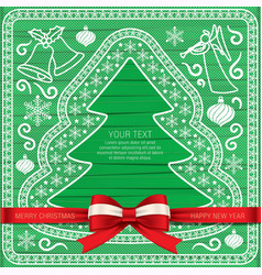 xmas cardgift cardbeautiful cards vector image