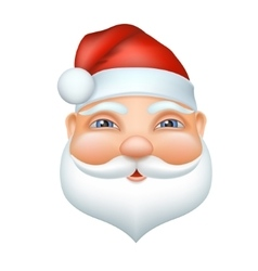 Santa claus cheerful face vector