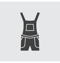 Overalls icon vector image