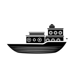 Sea ship transport vector