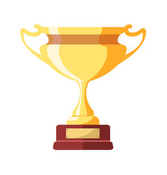 Gold award in form of goblet on small stand vector