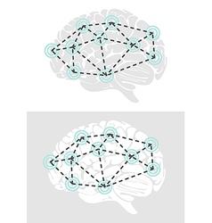 Brain graphic elements vector image