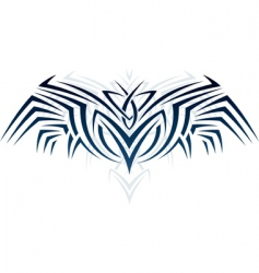 Wings in tattoo style vector