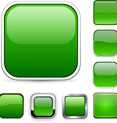 Square green app icons vector