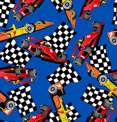 Racing car seamless pattern vector