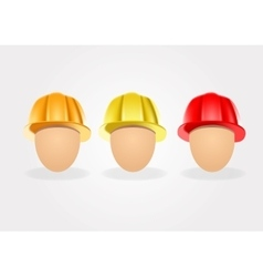 set of construction helmets vector image