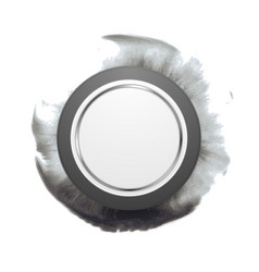 Grey circle shape on dark watercolor splash vector