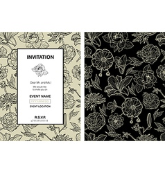 back flower vert vector image