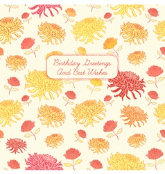 Vintage Birthday Floral Card vector image