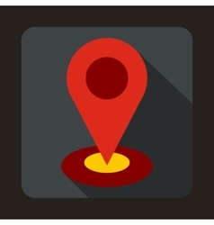 Map pointer icon in flat style vector