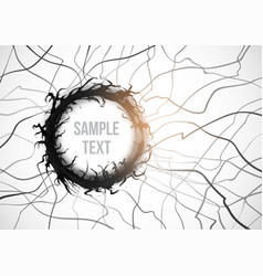 abstract black background with grunge circle vector image