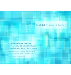 abstract blue cell background vector image vector image