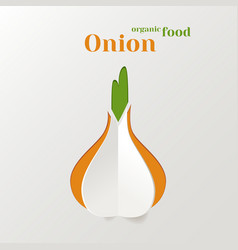Abstract paper onion vector