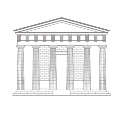 Antiquities greek temple vector