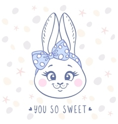 Bunny cute vector