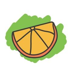 Cartoon doodle orange vector image