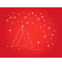 christmas card with tree and stars vector image vector image
