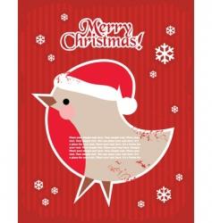 Christmas postcard with bullfinch vector image vector image