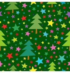 Christmas seamless simple pattern with colorful vector image