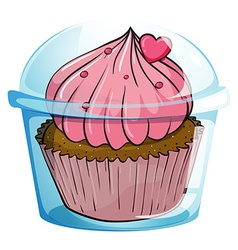 Close up cupcake vector image vector image