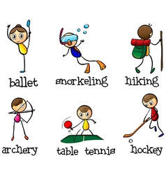 Different sports activity vector