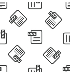 DOC file pattern vector image