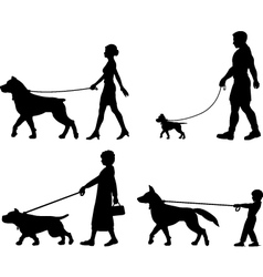 Dog owner variety vector