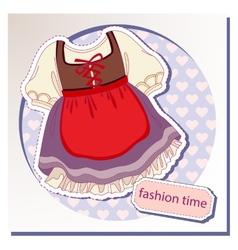 Dress for girls vector