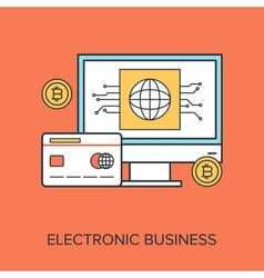 Electronic business vector