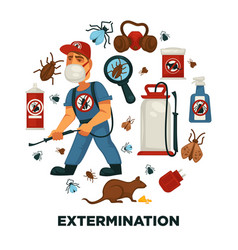 Extermination or pest control service company vector