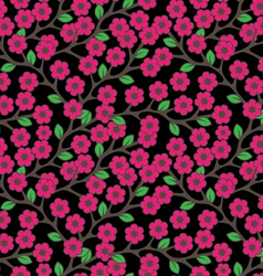 Flowers ornament seamless vector image vector image