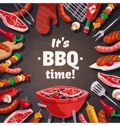 Grill bbq time background vector