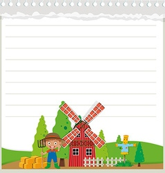 Line paper design with farm theme vector