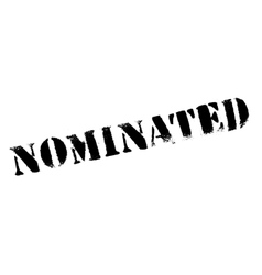 Nominated rubber stamp vector