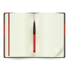Open Notepad Realistic vector image