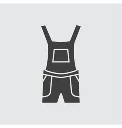 Overalls icon vector