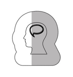 Person with bubble brain icon vector