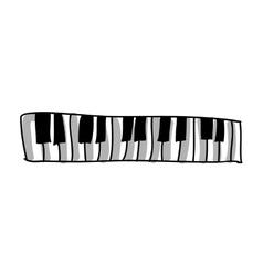 piano keys icon image vector image
