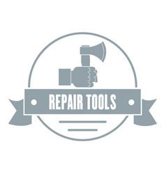 Renovation tool logo vintage style vector